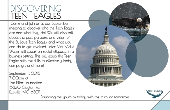 9-11-15 Mtg Discovering Teen Eagles