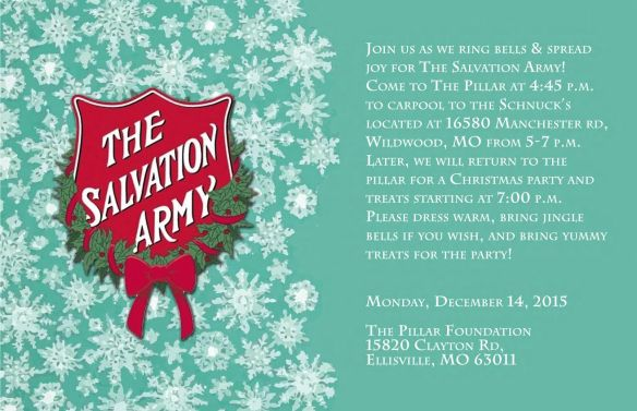 Salvation Army flyer 2015