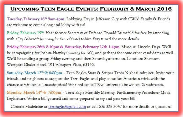 February Event Calendar TE 2016